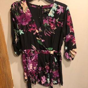 Yumi Kim Floral Romper Silk